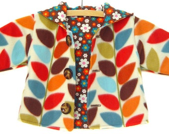 Best baby gifts, vintage handmade, unique baby shower gifts, groovy baby, retro baby clothes, mod baby clothes - Harvest Hoodie