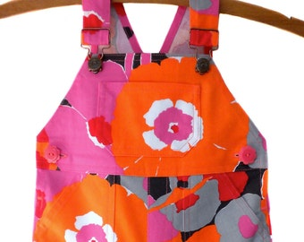 Overalls / Handmade / Pants / Coveralls / Dungarees - Poppy Field Overalls