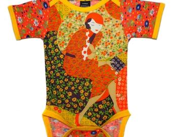 Vintage / Handmade / Bodysuit / baby clothes / pretty girl - Classy Lady
