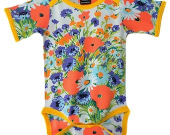 Vintage / Handmade / Bodysuit - Pretty Poppy