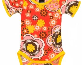 Handmade / Bodysuits / cherry / baby clothes  - Cherry Sparkle