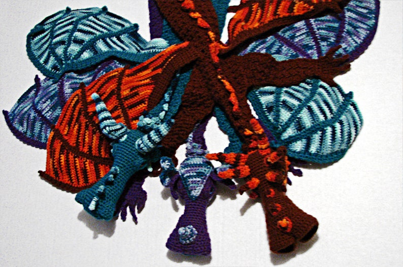 Dragon Scarf Crochet Pattern image 0