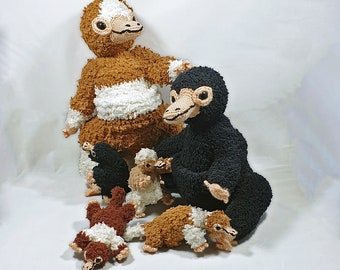 Niffler crochet pattern, amigurumi adult and baby size included