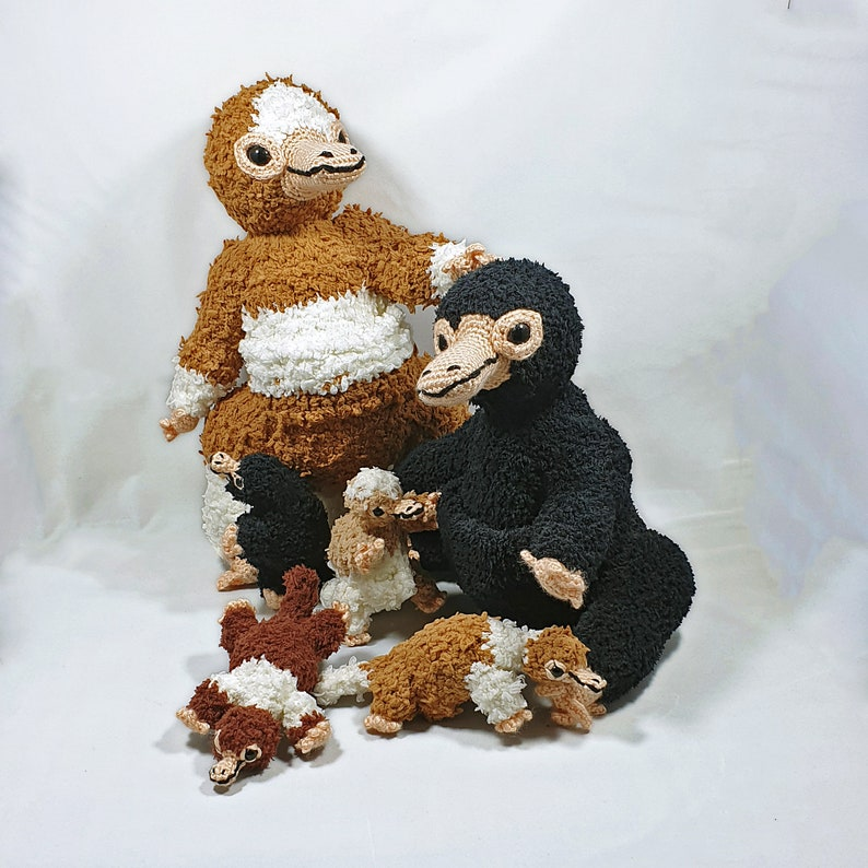 Niffler crochet pattern amigurumi adult and baby size image 0