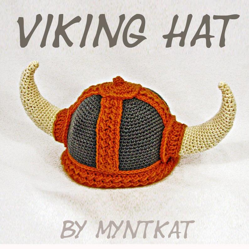 Viking Hat Crochet Pattern image 0