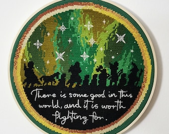 Lord Of The Rings, LOTR, Hobbit, counted cross stitch pattern, chart