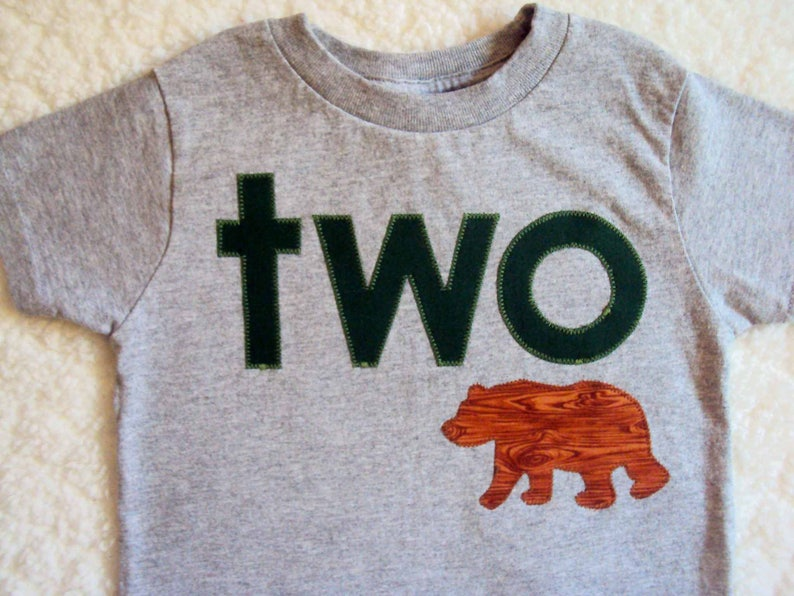 fe3f660f4 Bear Birthday Shirt Camping Birthday Shirt Woodland Birthday   Etsy