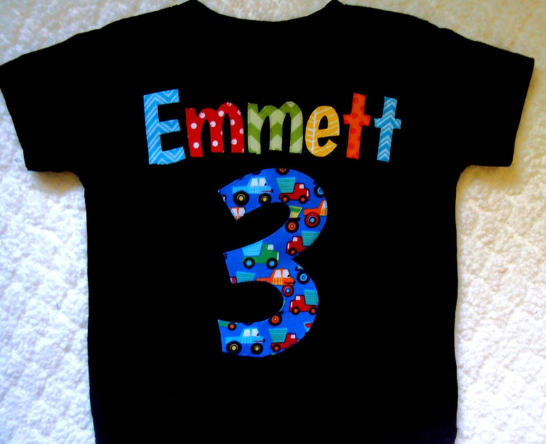 Truck Birthday Shirt Personalized 2