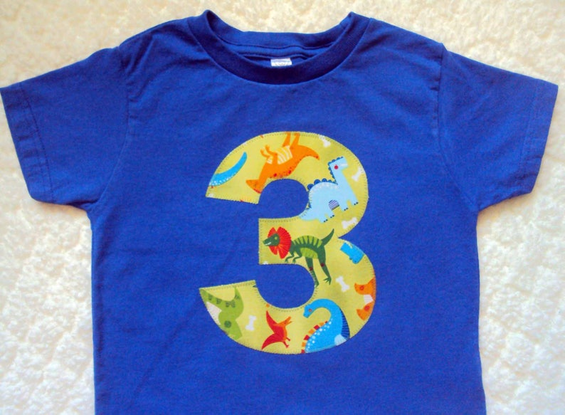 3aa1766e481 Third Birthday Tshirt - 3 Year Old Dinosaur Birthday Shirt