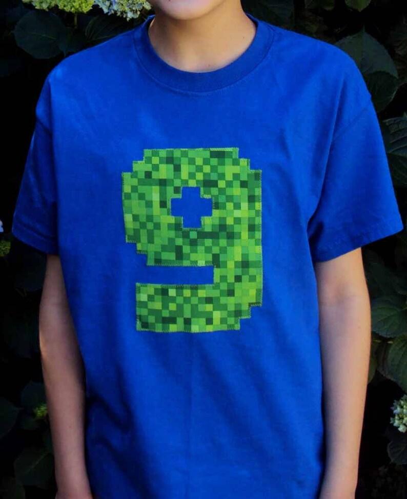 Minecraft Inspired Birthday Shirt Boys Six