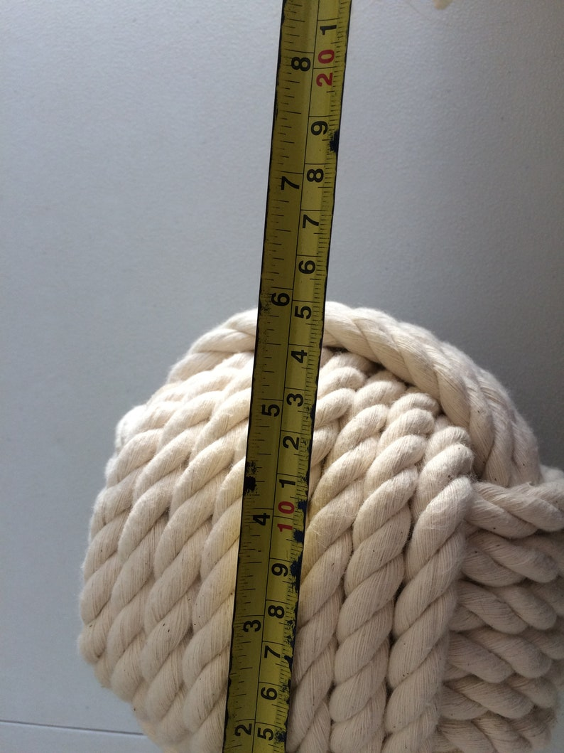 Soft Cotton Rope Doorstop Nautical Gift Ideas Made in Canada 1 Monkey Fist Rope Doorstop