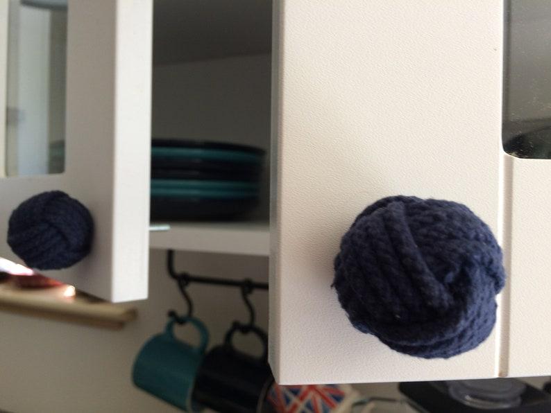 Rope Dresser Pulls Nautical Nursery, Nautical Knobs 8 Navy Blue Rope Door knobs