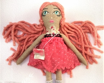 Mely - Handcrafted OOAK Cloth Doll
