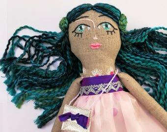 Meli - Handmade Doll,Soft Doll,Cloth Doll,Gift for Girl,Decor Doll,Textile Doll,Personalised Doll,Interior Doll,Rag Doll,Heirloom Doll