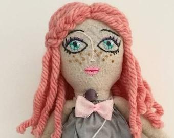 Meli- Handmade Doll,Cloth Doll,Rag Doll,Soft Doll,Cute Doll, Cute Gift for girl, Heirloom Doll,Girl best Friend