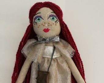 Mely Party Girl -Handmade Doll,Cloth Doll,Rag Doll,Soft Doll,Fabric Doll,Interior Doll,Girl Room Decor,Gift for Girl,Cute Gift,Heriloom Doll