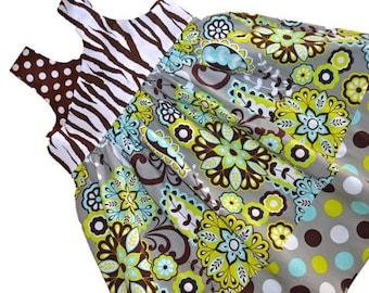 "Girls Dress Pattern, pdf Sewing Patterns, Easy Sewing Pattern, Girl, Children, Baby, ""The Olivia Knot Dress"" Sizes 6m - Girls Size 12"