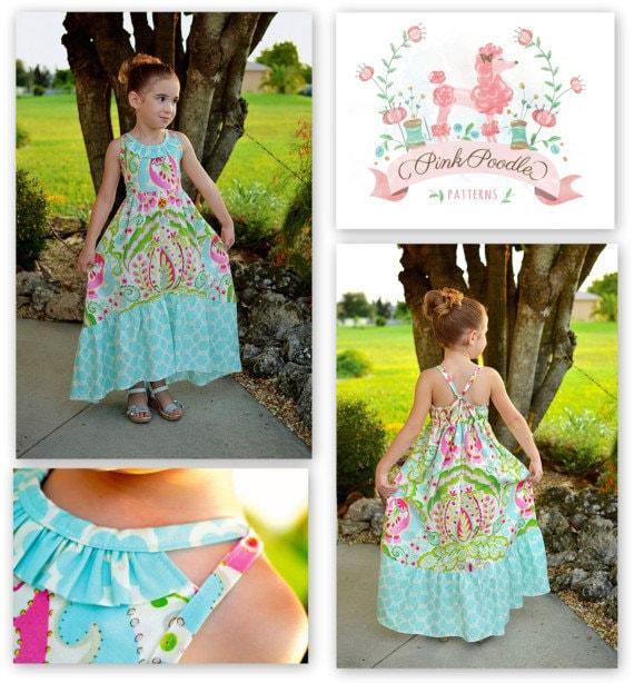 PDF Pattern Girls Sewing Pattern The Sophia Maxi Dress
