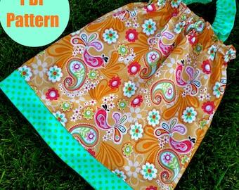 """Girls Dress Pattern, Baby Dress Pattern, Sewing Patterns, PDF Sewing Patterns, Easy Sewing PDF Patterns,""""Ruffle Sleeve Dress"""""""