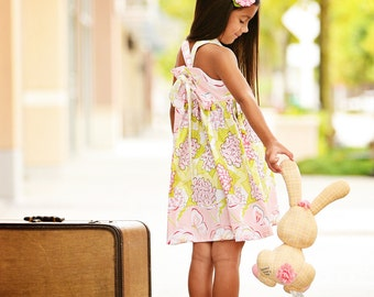 "Girls Dress Pattern Knot Dress Pattern, pdf Sewing Patterns, Easy Sewing Pattern, Girl, Children, Baby, ""Olivia Dress"""