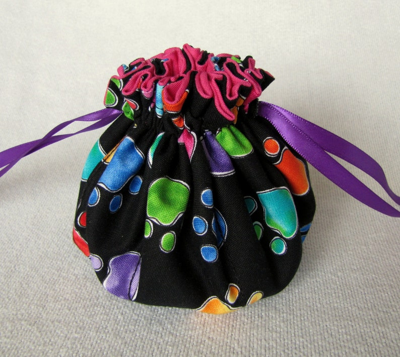 Medium Size Pouch for Jewelry Drawstring Jewelry Tote Jewelry Bag LITTLE FOOT
