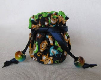 Tote for Jewelry - Mini Size - Treasure Bag - BARREL OF MONKEYS