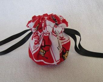 College Team Jewelry Bag - Bag for Jewelry - Travel Tote - NEBRASKA CORNHUSKERS
