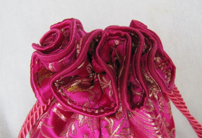 Brocade Jewelry Bag Tote Luxury Size DOUBLE VISION Drawstring Jewelry Pouch