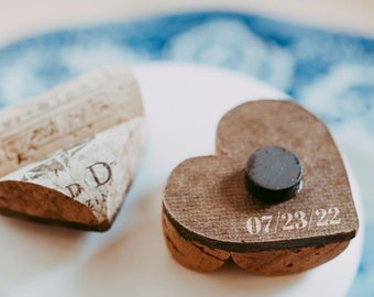 wedding save the date magnet - wine cork refrigerator magnets - unique save the date ideas
