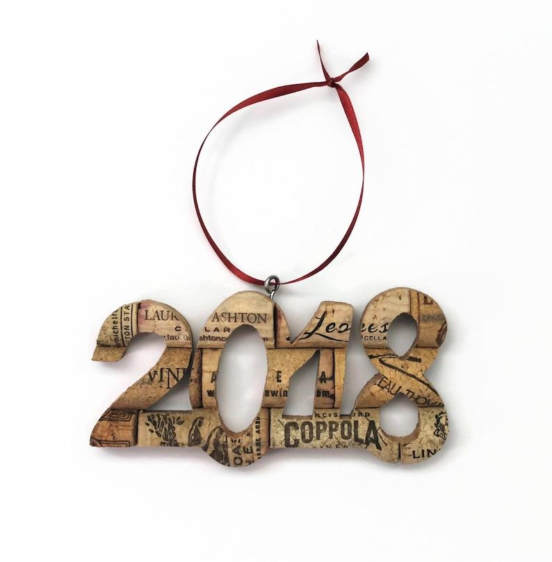 wine lover gift 2018 wine cork Christmas ornament
