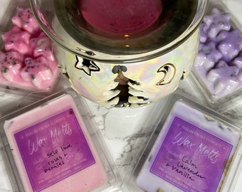 Intention Wax Melts with Crystals + Herbs
