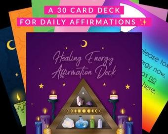 Healing Energy Affirmation Deck