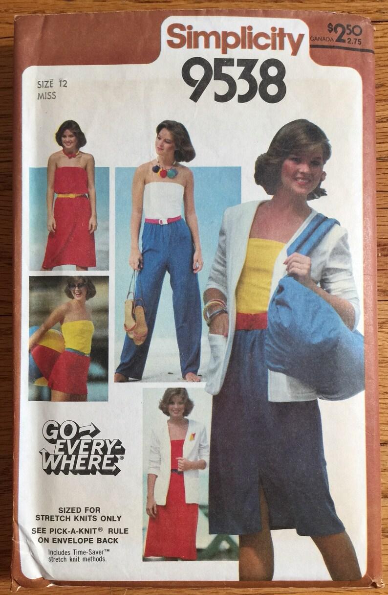 97720ab5fdb Vintage 1970s Womens Size 12 Casual Dress Skirt Tube Top Pants