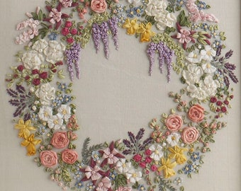 Large Garland - Pattern & Print embroidery kit