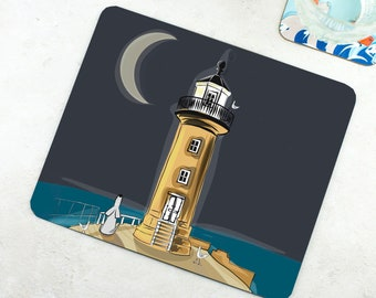 Whitby Lighthouse Placemat - Funny Placemat - Dog Placemat - Dog Lover Gift - Funny Gift - Whitby Gift - Seaside Gift - Lighthouse