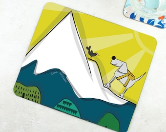 Mountain Placemat - Funny Placemat - Dog Placemat - Dog Lover Gift - Funny Gift - Climb Every Mountain - Exploring Gift - Adventure Gift