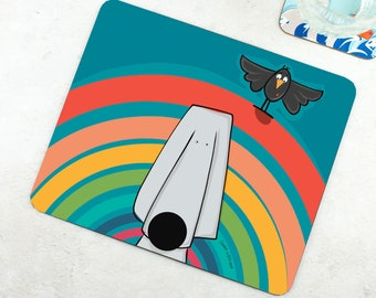 Rainbow Placemat - Funny Placemat - Dog Placemat - Dog Lover Gift - Funny Gift - Happy Bright Placemat - Exploring Gift - Rainbow Gift
