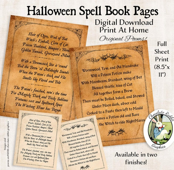 image about Printable Spell Book Pages named Halloween Witch Spell E book Webpages Electronic Down load Printable Site Spellbook Image Graphic Wall Artwork Sbook Magazine Collage Sheet