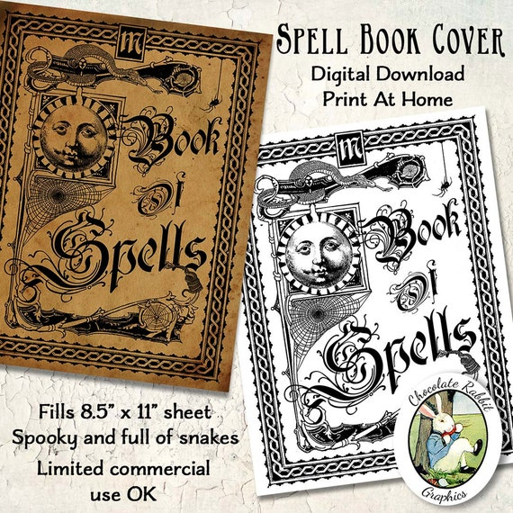 Vintage Book Cover T Shirts : Witch spell book cover halloween vintage style digital