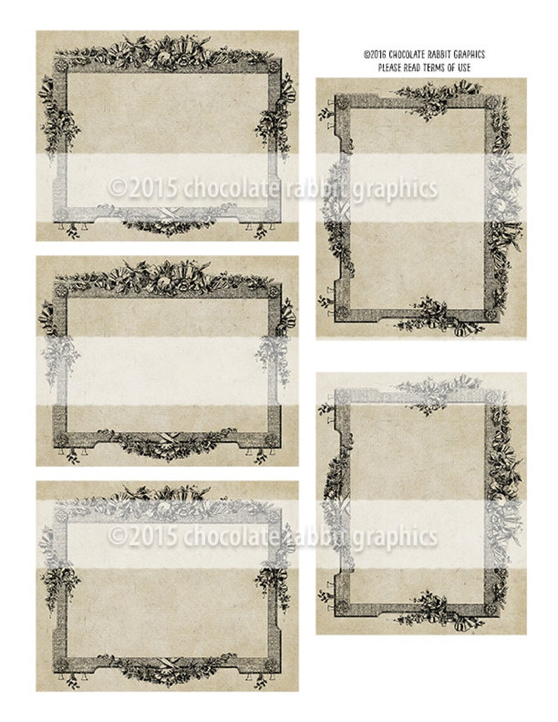Blank French Labels Editable Vintage Style Digital Download Printable Tags Candle Bath Body Label Scrapbook Clip Art Graphic Image