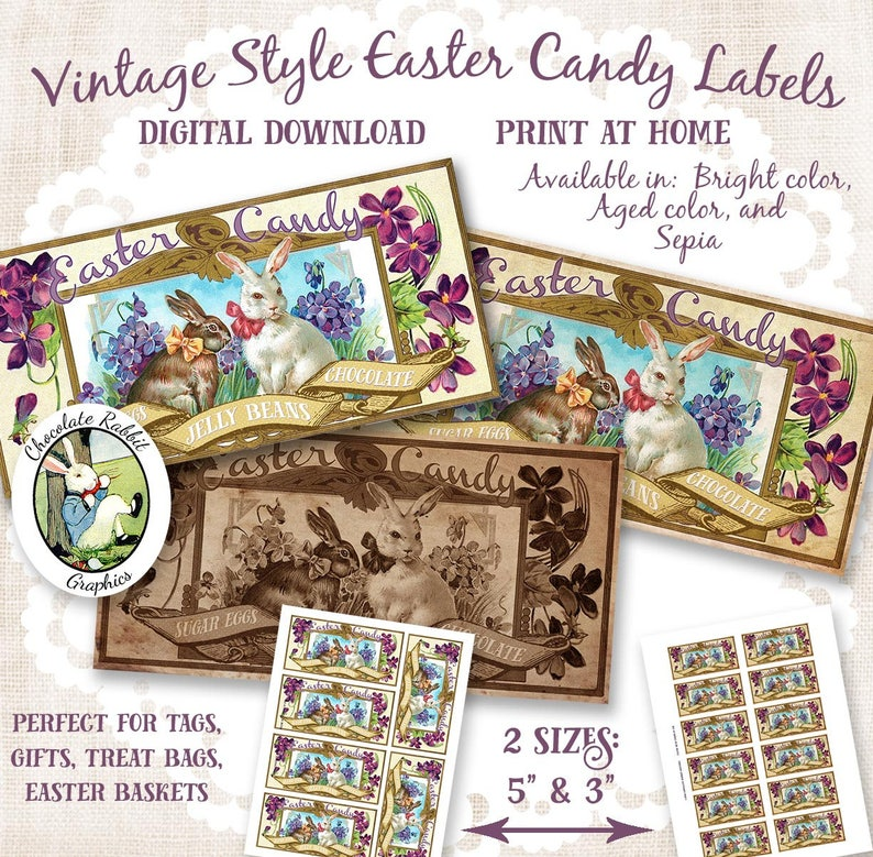 graphic regarding Printable Candy Labels titled Basic Easter Sweet Labels, Printable Easter Tags, Electronic Typical Labels, Impression Go, Easter Labels