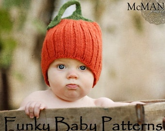 Pumpkin hat KNITTING PATTERN 6ede0aaa55a