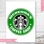 Starbucks Birthday Coffee Lover Printable Poster  - Print Your Own