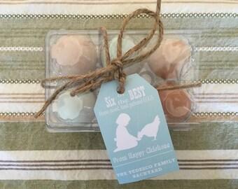 Personalized Egg Carton Label, Backyard Fresh, Farm Fresh Eggs, Dozen, half dozen, print your own