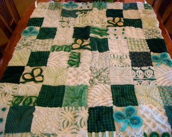 LUCKY LITTLE LAD ~ Made-to-Order Custom Design Vintage Cotton Chenille Patchwork Quilt for Custom Ordering Only