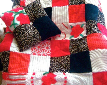 ANDELUCIA NIGHTS  ~ A Made-to-Order Custom Design Vintage Cotton Chenille Patchwork Quilt for Custom Ordering Only