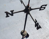 Weathervane North South East West with Bracket- Art Supply Metal Art Farmhouse Decor Industrial at A Vintage Revolution