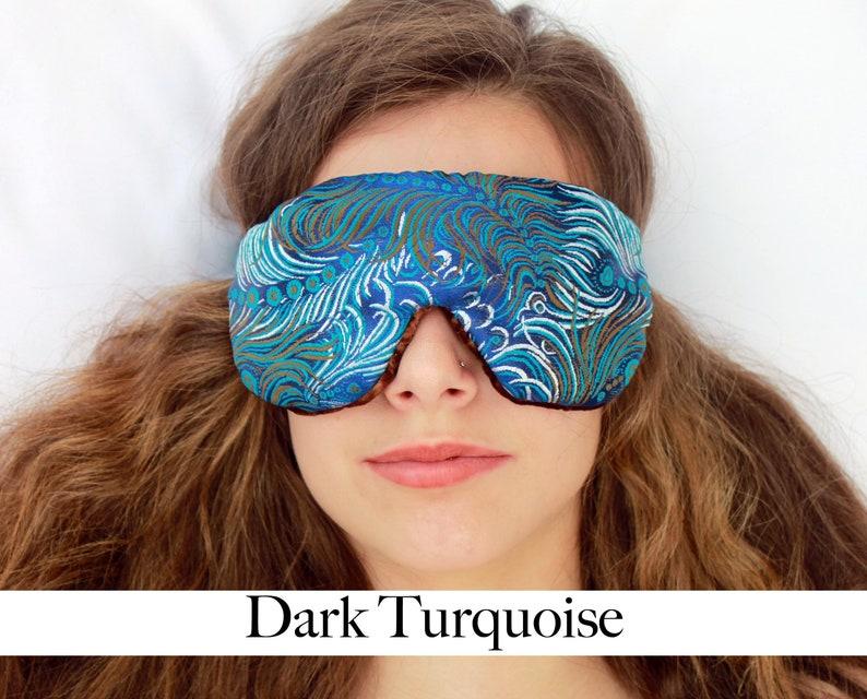Adjustable Blackout Travel Sleep Eye Mask  Dual Sided Satin image 0
