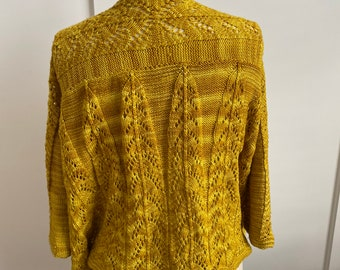 Women's lace cardigan - handknit inspired by the Chrysler Building OOAK size M