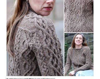 An Aran for Frederick cabled unisex pullover pattern PDF